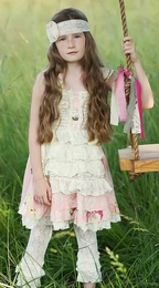 """Mustard Pie Petal Pink """"Reagan"""" Apron Dress *NEW STYLE* SOLD OUT!"""