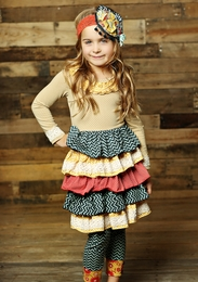 "Mustard Pie ""Petunia"" Dress w/Multi Layered Skirt<br>  *PREORDER*"