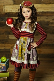 "Mustard Pie Plum Ruby ""Scrappy Ramona"" Dress"