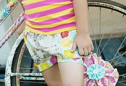 "Mustard Pie Fruity Linen ""Izzy"" Shorts<br>Sizes 2T - 12"
