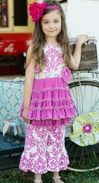 "Mustard Pie Pop Pink ""Mia"" Must-Have Dress<br>Sizes 3T - 12"