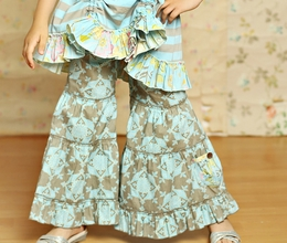 "Mustard Pie Sage Blue Geo Beautiful ""Pixie"" Pant"