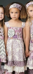 "Mustard Pie Stunning Lavender ""Isabella"" Bustle Dress<br>Sizes 3T - 12"