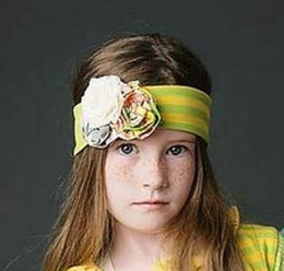 "Mustard Pie Sunny Pop Mint ""Flora"" Head Band<br>Sizes XS - L"