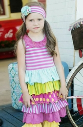 "Mustard Pie Sweet & Fruity ""Petunia"" Spring Dress<br>Sizes 2T - 12"
