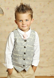 Mustard Pie Sweet Pink Chevron Boy's Neck Tie SOLD OUT!