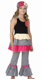 One Posh Kid Bella Chic Sassy Halter Dress and Pant Set