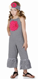 One Posh Kid Bella Chic Stripe Jumper w/Rosette