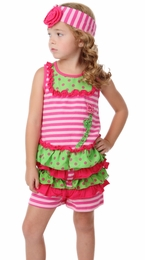 "One Posh Kid ""Brianna"" Swing Top with Ruffle Shorties<br>Sizes Size 12M - 6"