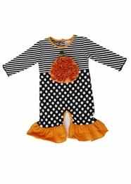 "One Posh Kid ""Lil' Pumpkin"" Rosette Holiday Baby Longall"