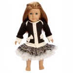 Ooh La La Couture 18 Inch Doll Black Coco Cardigan Dress