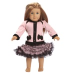 Ooh La La Couture 18 Inch Doll Blush Coco Cardigan Dress