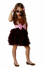 "Ooh La La Couture Amazing Wow ""Dream"" Tank Style Leopard Sequin Dress w/Pink Bow *FINAL SALE*-SOLD OUT!"