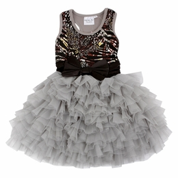 "Ooh La La Couture Amazing Wow ""Dream"" Metallic Tank Style Sequin Bow Dress *FINAL SALE*"