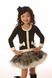 Ooh La La Couture Beautiful Black Coco Cardigan Dress