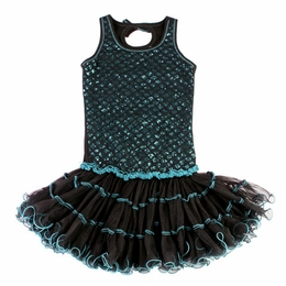 Ooh La La Couture Black & Aqua Wiretrim Poufier Dress