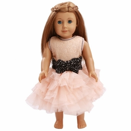 Ooh La La Couture Blush Bow Dream Doll Dress