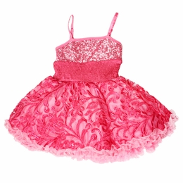 "Ooh La La Couture Candy Pink Stunning Embroidered ""WoW"" Pouf Dress<br>Sizes 4 - 10"