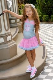 Ooh La La Couture Classic Varsity Tank Style Birthday Dress<br>Sizes 2T - 12