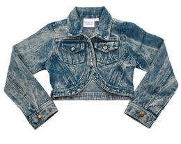 Ooh La La Couture Denim Cropped Jacket