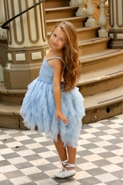 "Ooh La La Couture Light Blue Wow ""Devin"" Dress<br>Sizes 6X/7 - 14"