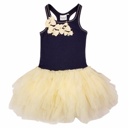 Ooh La La Couture Navy & Champagne Little Bow Party Dress *PREORDER*<br>Sizes 4- 12