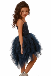 Ooh La La Couture Navy High Low Devin Dress *PREORDER*