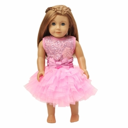Ooh La La Couture Pink & Lavender Doll Dress<br>Fits Doll Size