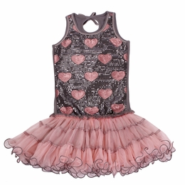 Ooh La La Couture Platinum & Blush Sequin Wiretrim Poufier Dress