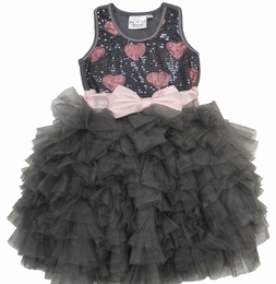 "Ooh La La Couture Platinum & Blush Sequin Wow ""Dream"" Dress"