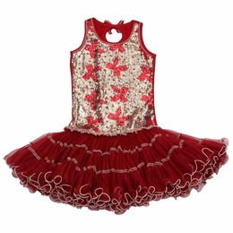 Ooh La La Couture Red Bows Sequin Wiretrim Tank Poufier Dress