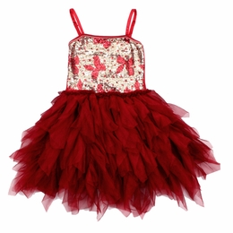 Ooh La La Couture Red Bows Sequin WOW Emma Dress