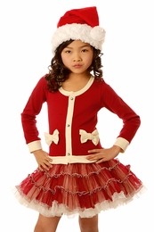 Ooh La La Couture Red Ho Ho Ho Cardigan Dress