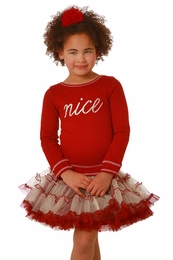 "Ooh La La Couture ""Naughty Or Nice"" REVERSIBLE Red Tutu Dress"