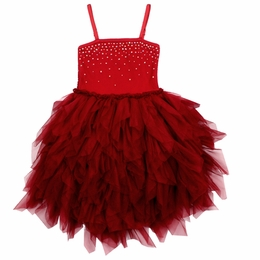 "Ooh La La Couture Red Swarovski High Low ""WoW"" Devin Dress"