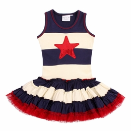 Ooh La La Couture Sassy 4th Of July Holiday Dress<br>Sizes 2T - 14