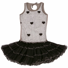 Ooh La La Couture Silver & Black Wiretrim Poufier Dress