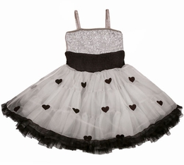 Ooh La La Couture Silver & Black WOW Pouf Dress
