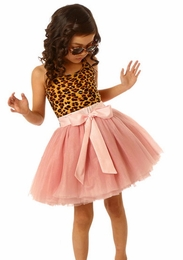 Ooh La La Couture Sweet Leopard & Ballet Blush Tie Bow Dress SOLD OUT!