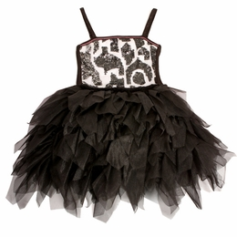 "Ooh La La Couture Wow ""Emma"" Black & White Spaghetti Strap Dress *FINAL SALE*"