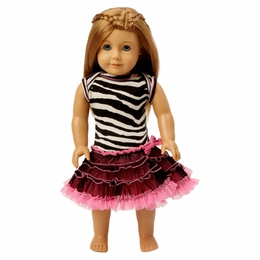 "Ooh La La Couture Zebra Doll Dress (Fits Up To 18"" Doll) **Almost Gone!<br>One Size"