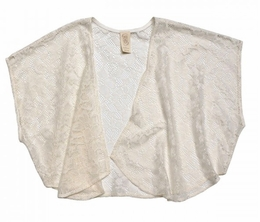 Over The Top Ivory Lace Kimono Must Have Trendy Wrap