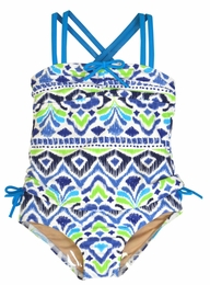 Penny Candy by DownEast Girls Ikat Print Brigette Two Piece Tankini Swimsuit