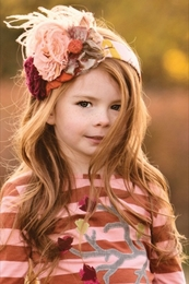 "Persnickety ""Autumn Splendor"" Amazing Fall Rosette Headband"