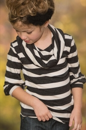 "Persnickety ""Autumn Splendor"" Classy Stripe Betty Top"