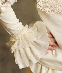 "Persnickety ""Autumn Splendor"" Cream Sleeve Cuffs"