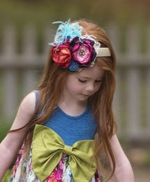 "Persnickety ""Forget Me Not"" Stunning Azalea Headband SOLD OUT!"