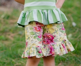 "Persnickety ""Garden Party"" Floral Mae Short"