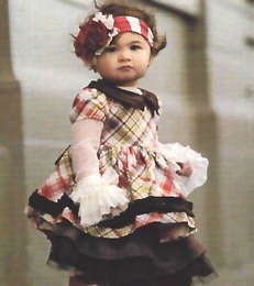 "Persnickety Golden Girls Gorgeous Plaid  Baby Doll"" Dress *FINAL SALE*"