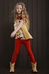 "Persnickety Golden Girls Red ""Skinnies"" *FINAL SALE*"